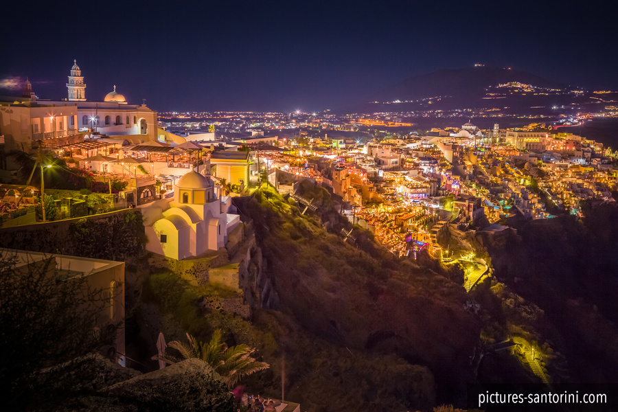Fira Panorama at Night