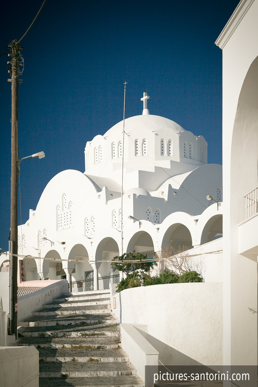 Fira: White Orthodox Cathedral