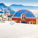 Oia: Colorful Building