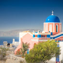 Oia: Colorful Church